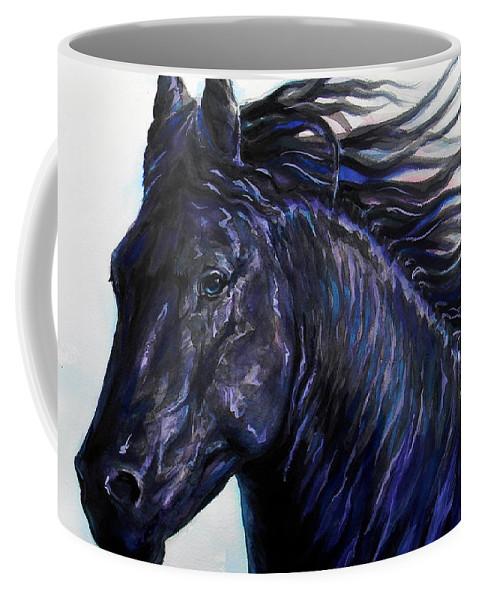 Fressian Coffee Mug featuring the painting P . A . N . T . H . E . R by J - O  N  E