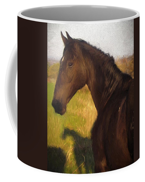 Horse Coffee Mug featuring the photograph Black Beauty by Shannon Story