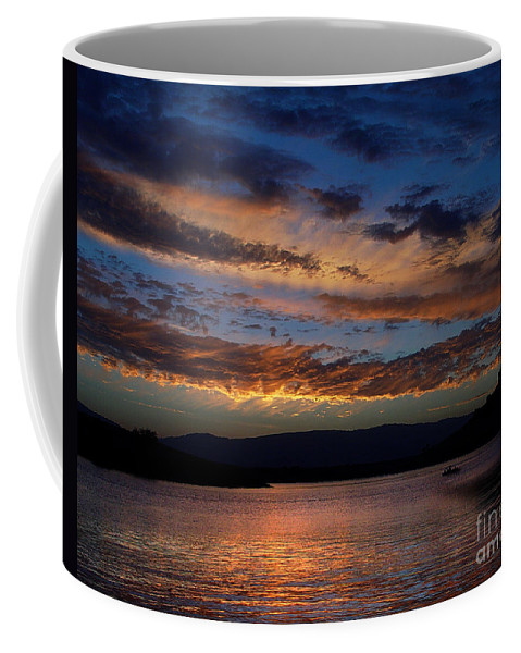Black Butte Sunset Coffee Mug featuring the photograph Black Butte Sunset by Peter Piatt
