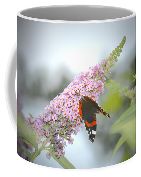 Butterfly Coffee Mug featuring the photograph Black Butterfly by Photos By Zulma