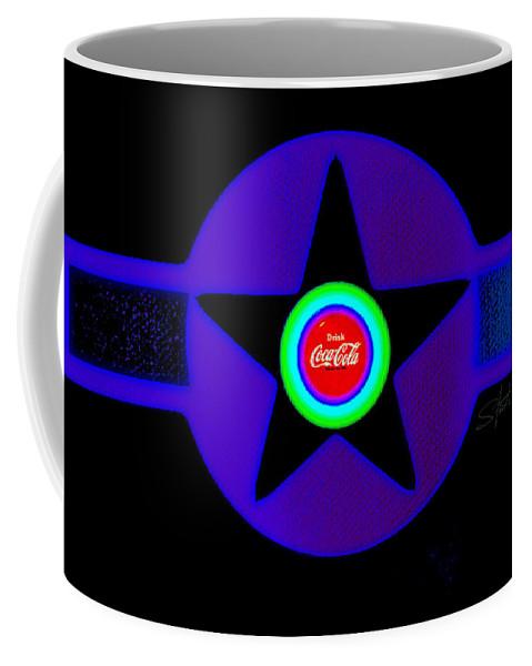 Pop Art Coffee Mug featuring the painting Black by Charles Stuart