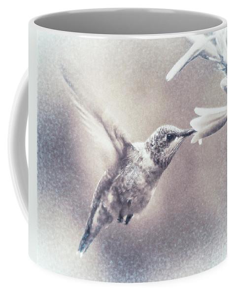 Hummingbird Coffee Mug featuring the digital art Black-chinned Hummingbird by Carol Fox Henrichs