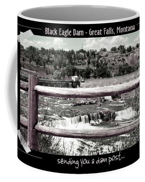 Great Falls Coffee Mug featuring the photograph Black Eagle Dam by Susan Kinney