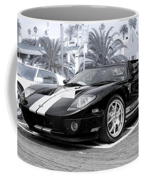 Ford Gt Coffee Mug featuring the photograph Black Ford Gtx1 Droptop by Gene Parks