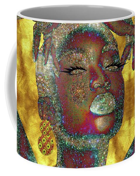 Black Girl Magic Coffee Mug featuring the digital art Black Girl Magic by Kia Kelliebrew