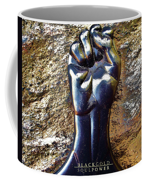 Coffee Mug featuring the photograph Black Gold Soul Power by Maurice Bolden