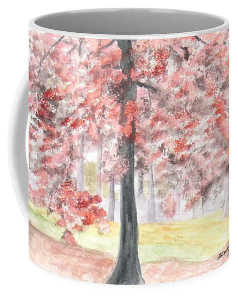 Black Gum Trees Coffee Mug featuring the painting Black Gum Grove by Alexis Grone