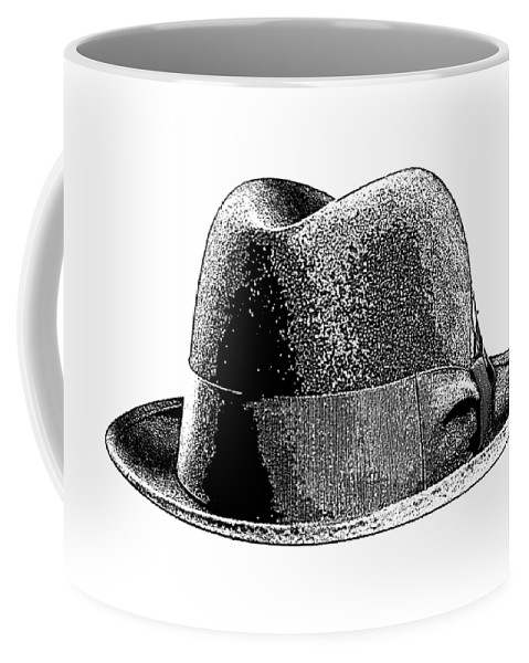 Breaking Bad Coffee Mug featuring the drawing Black Hat T-shirt by Edward Fielding