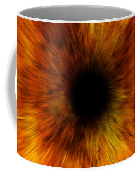 Hole Coffee Mug featuring the mixed media Black Hole by Michal Boubin
