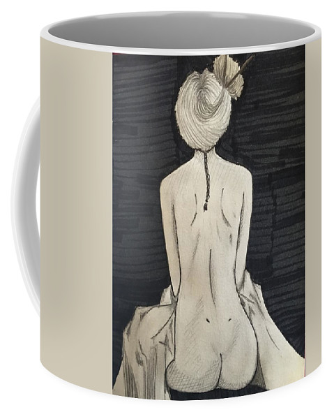 Coffee Mug featuring the painting Black Hole by Zhyara Ashby