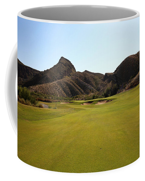 Athletes Coffee Mug featuring the photograph Black Jack's Crossing Golf Course Hole 11 by Judy Vincent