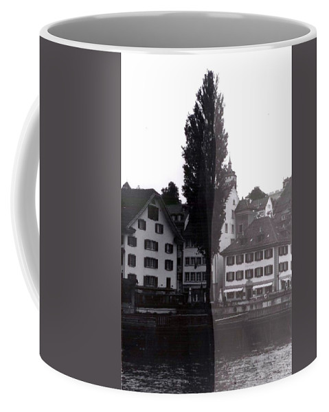 Black And White Coffee Mug featuring the photograph Black Lucerne by Christian Eberli
