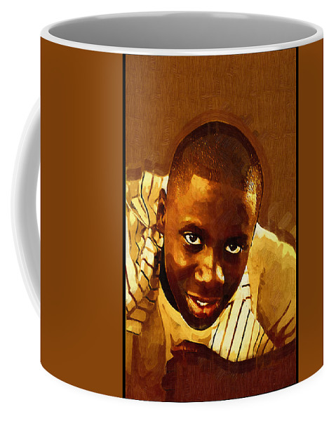 Beautiful Black Children Coffee Mug featuring the photograph Young Black Male Teen 1 by Ginger Wakem