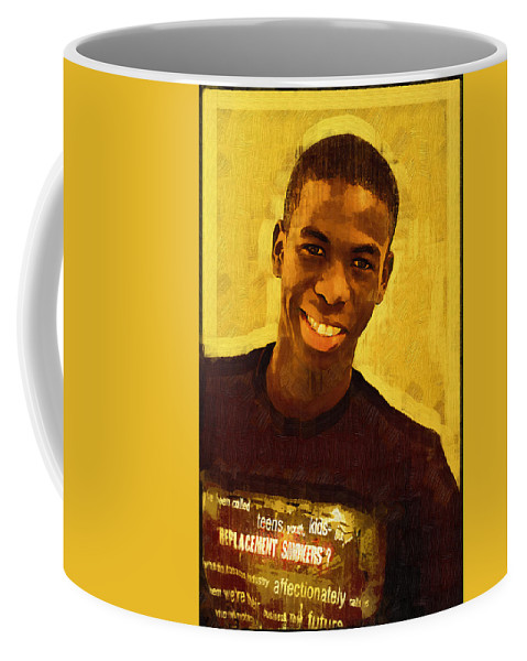 Beautiful Black Children Coffee Mug featuring the photograph Young Black Male Teen 2 by Ginger Wakem