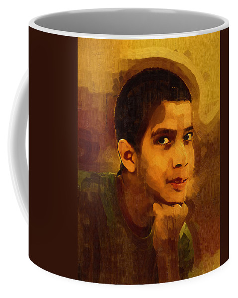 Beautiful Black Children Coffee Mug featuring the photograph Young Black Male Teen 3 by Ginger Wakem
