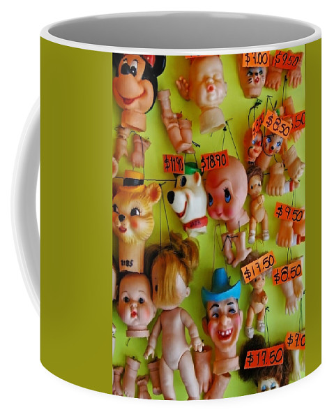 Heads Coffee Mug featuring the photograph Black Market Parts by Skip Hunt