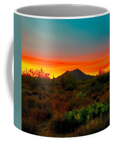 Coffee Mug featuring the photograph Black Mountain Seduction by Joy Elizabeth