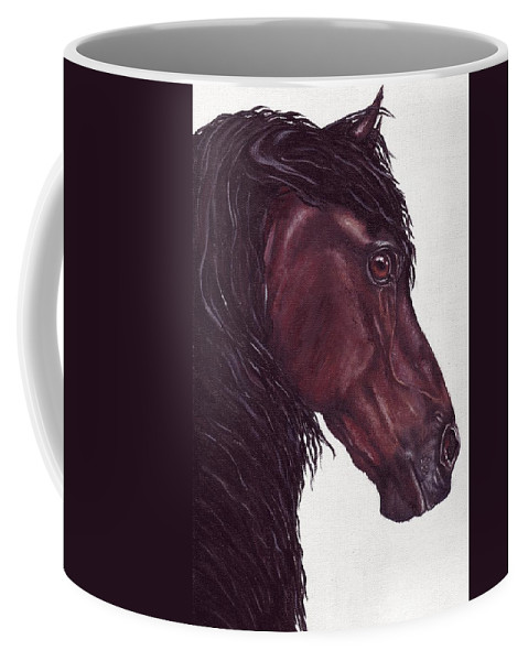 Horse Coffee Mug featuring the painting Black Sterling I by Kristen Wesch