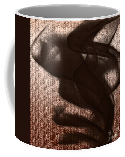 Clay Coffee Mug featuring the digital art Black Vector Apparition by Clayton Bruster