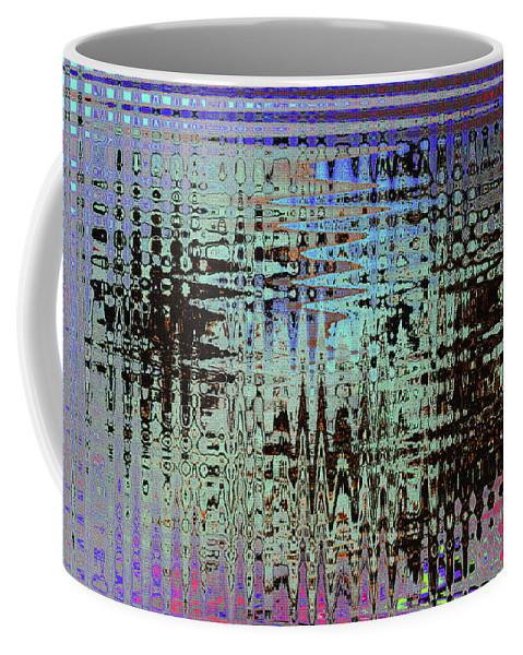 Black Walnut Ink Tepary Bean Abstract Coffee Mug featuring the photograph Black Walnut Ink Tepary Bean Abstract by Tom Janca
