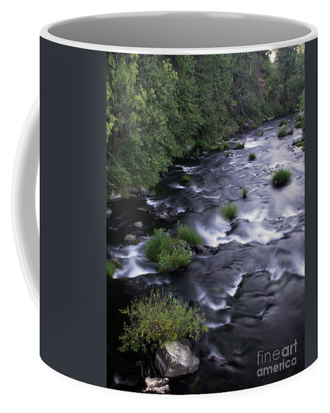 River Coffee Mug featuring the photograph Black Waters by Peter Piatt