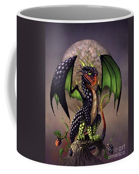 Dragon Coffee Mug featuring the digital art Blackberry Dragon by Stanley Morrison