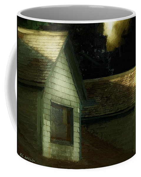 Autumn Coffee Mug featuring the painting Blackbird Singing In The Dead Of Night by RC DeWinter