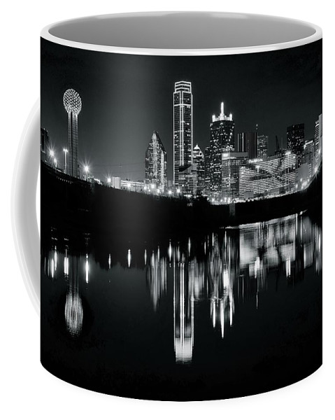 Dallas Coffee Mug featuring the photograph Blackest Black In Dallas by Frozen in Time Fine Art Photography