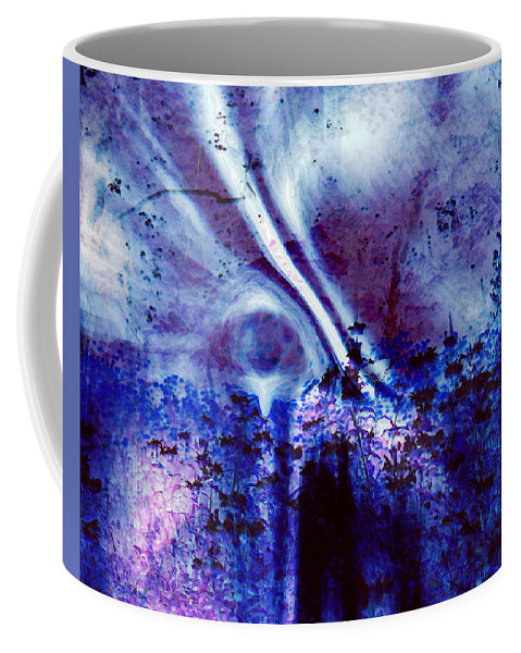 Abstracts Coffee Mug featuring the digital art Blackest Eyes by Linda Sannuti