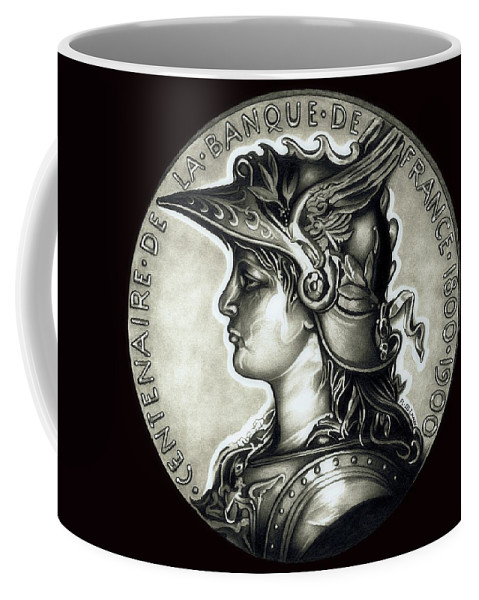 Coin Coffee Mug featuring the drawing Blackmarianne by Fred Larucci