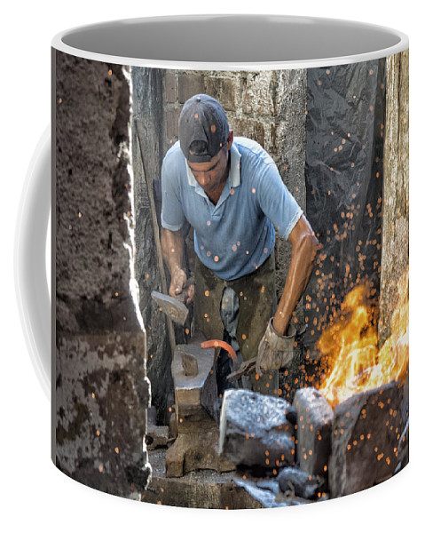 Camaguey Coffee Mug featuring the photograph Blacksmith by Dan Leffel