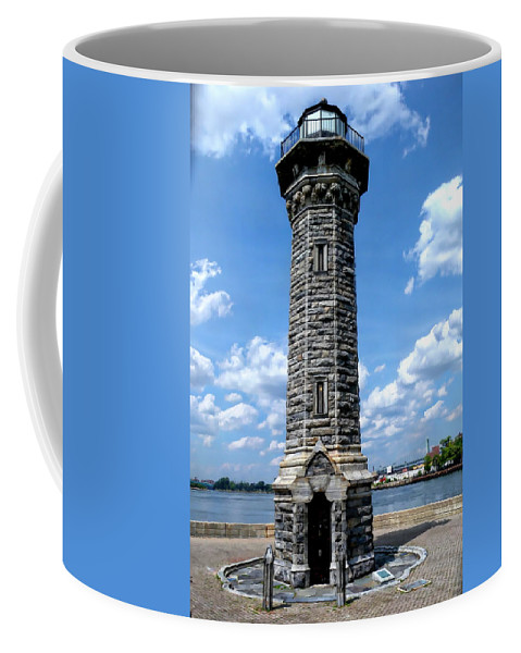 New York Coffee Mug featuring the photograph Blackwell Island Lighthouse by Anthony Dezenzio