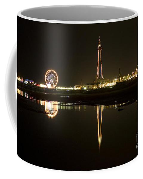 Blackpool Coffee Mug featuring the photograph Blacpool Illuminations by Angel Ciesniarska