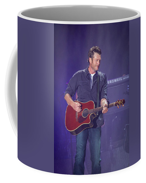 Blake Shelton Coffee Mug featuring the photograph Blake Shelton Guitar 4 by Mike Burgquist