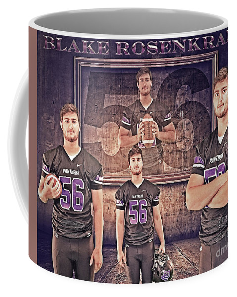 Dv 2017 Football Coffee Mug featuring the digital art Blake_1 by Jeana Squier