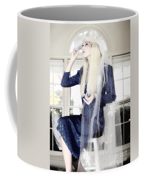 Clay Coffee Mug featuring the photograph Blanco Beauty by Clayton Bruster