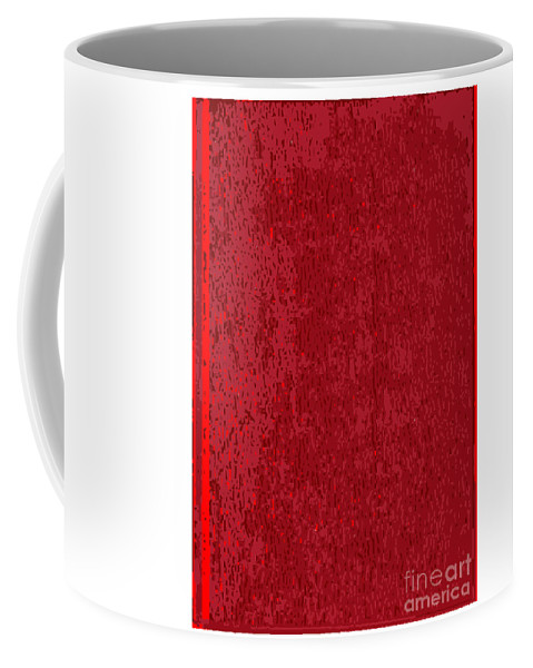 Front Coffee Mug featuring the digital art Blank Red Book Cover by Bigalbaloo Stock