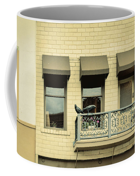 Balcony Coffee Mug featuring the photograph Bleached Dreams by Janice Pariza