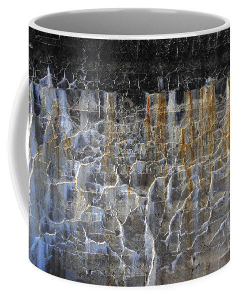 Abstract Coffee Mug featuring the photograph Bleeding Concrete Two by David Arment