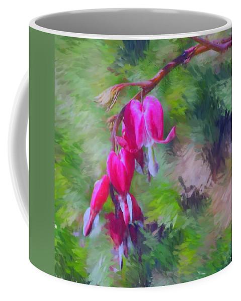 Daffodil Coffee Mug featuring the photograph Bleeding Heart by David Lane
