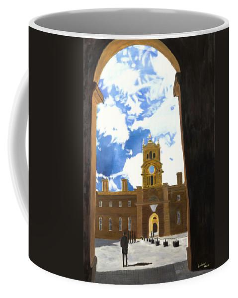 Churchill Coffee Mug featuring the painting Blenheim Palace England by Avi Lehrer