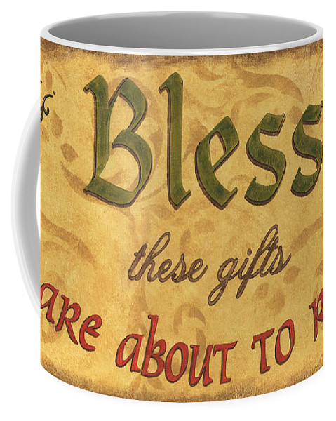 Gifts Coffee Mug featuring the painting Bless These Gifts by Debbie DeWitt