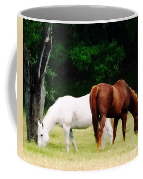 Horses Coffee Mug featuring the photograph Bliss by Joseph Kelly
