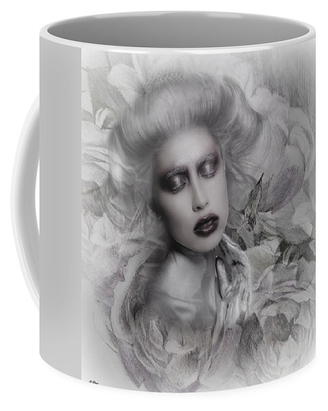 Contemporary Coffee Mug featuring the mixed media Blissful Beauty by G Berry