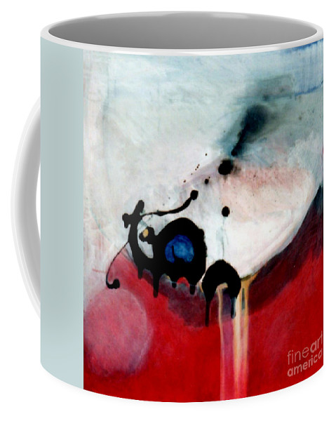 Primary Colors Coffee Mug featuring the painting blobs Leap frog by Marlene Burns