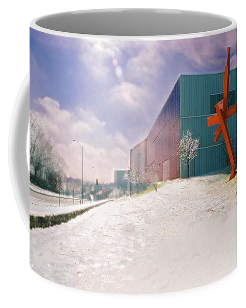 Landscape Coffee Mug featuring the photograph Bloch Building At The Nelson Atkins Museum by Steve Karol