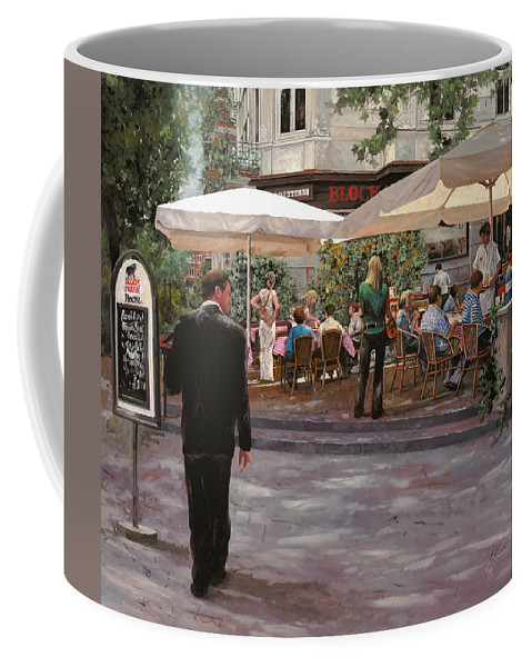 Blockhouse Coffee Mug featuring the painting Blockhouse by Guido Borelli