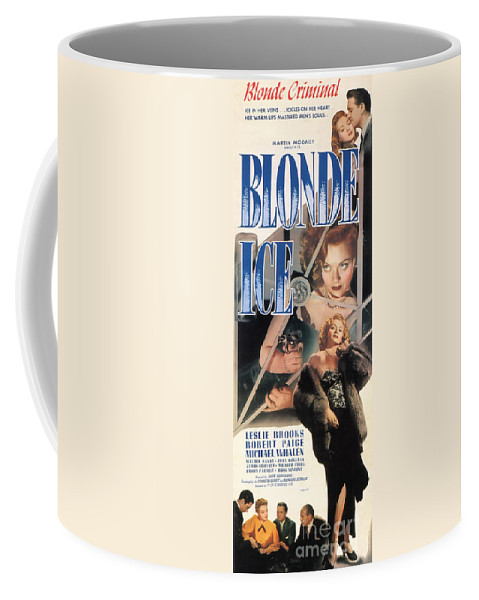 Blonde Ice Coffee Mug featuring the painting Blonde Ice Film Noir by R Muirhead Art