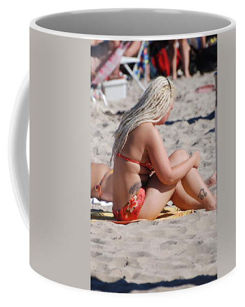 Girls Coffee Mug featuring the photograph Blondie Braids by Rob Hans
