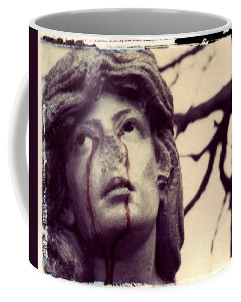 Polaroid Coffee Mug featuring the photograph Blood Is The New Black by Jane Linders